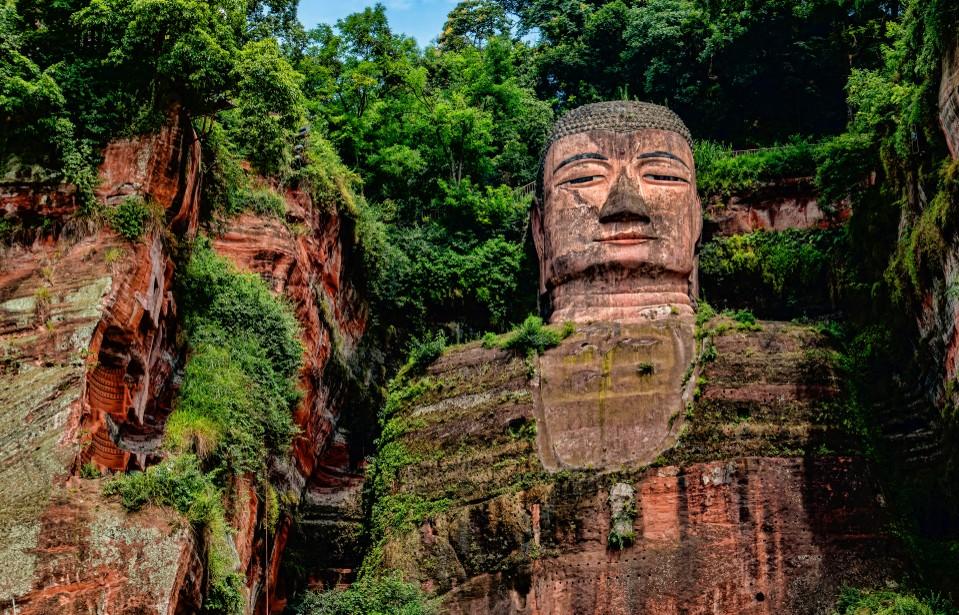 Der Große Buddha von Leshan - ein weiterer der Yanksee Source-Codes in der Provinz Sichuan. (#2)