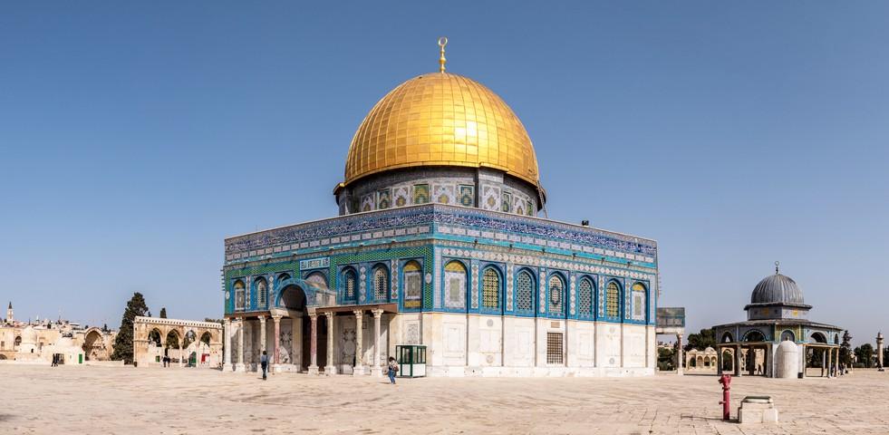 Der Felsendom auf dem Tempelberg in Jerusalem zählt mit zu den wichtigsten islamischen Heiligtümern. (#3)